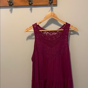 Purple Tank with Lace Detail